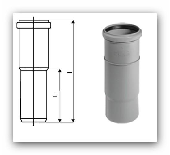 HTL Plus samostatné hrdlo prodloužené DN 40 pro vnitřní kanalizaci |  Vodo-plasttop s.r.o.