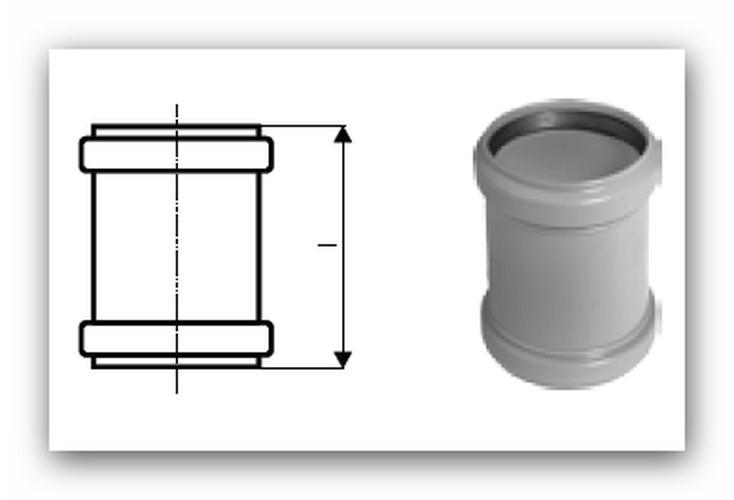 HTU Plus přesuvka DN 32 pro vnitřní kanalizaci, 110500 | Vodo-plasttop  s.r.o.