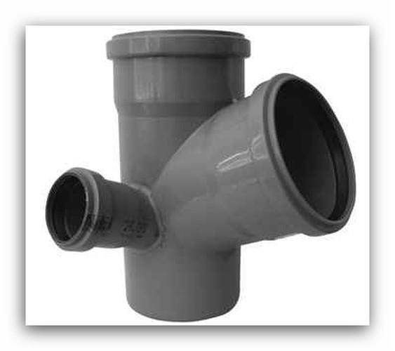 HTEPK Plus rohová paneláková odbočka DN 110/110/75mm 67° pro vnitřní  kanalizaci, levá | Vodo-plasttop s.r.o.