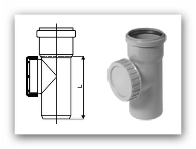 HTRE Plus čistící kus 50mm pro vnitřní kanalizaci | Vodo-plasttop s.r.o.