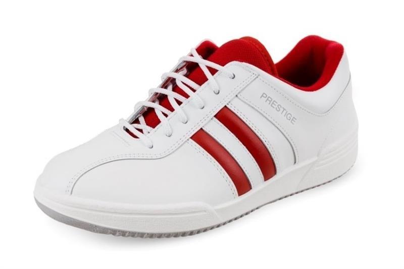 Moleda SPORT pracovní kožená obuv -  bílá/červená