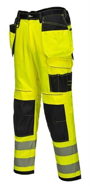reflexní výstražné kalhoty do pasu T501 žluté