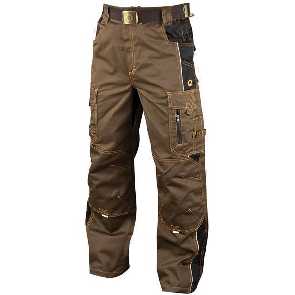 montérkové kalhoty do pasu Vision hnědé tarmac