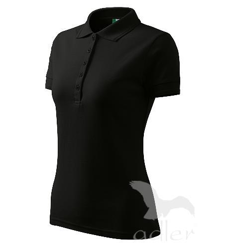 210 Polokošile dámská Pique Polo 200 černá