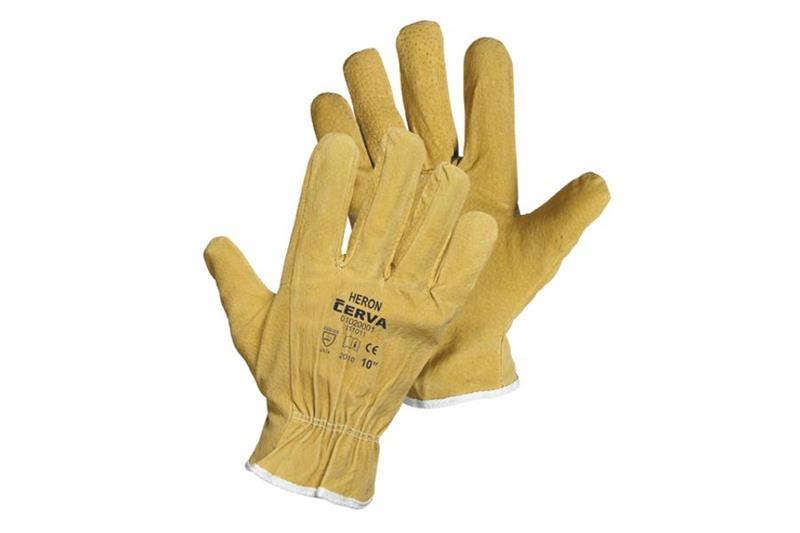 HERON/HILTON kožené pracovní rukavice