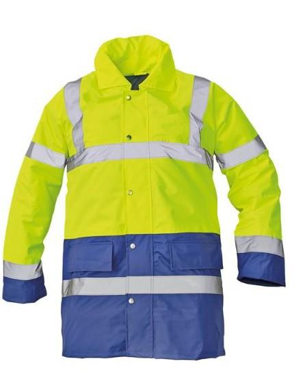 výstražná pracovní bunda Sefton-žlutá/světle modrá