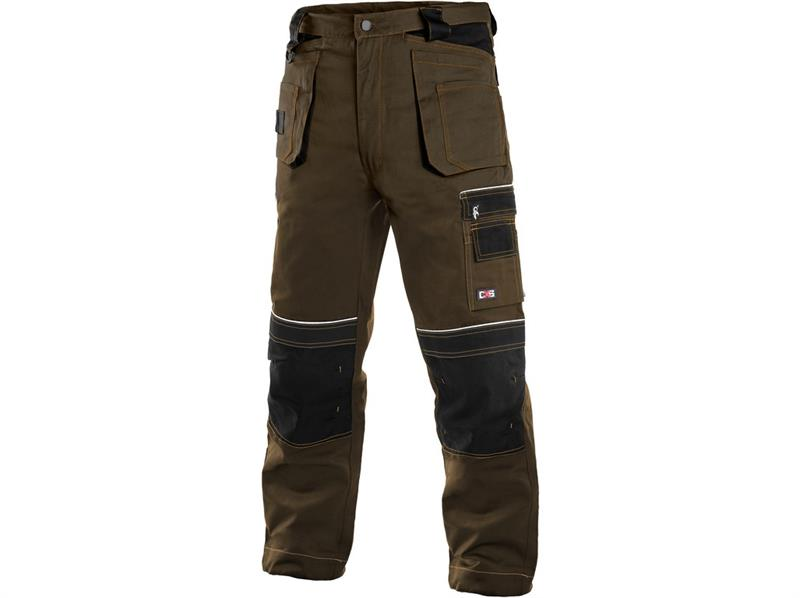montérkové kalhoty pasové hnědo/černé Teodor - Canis