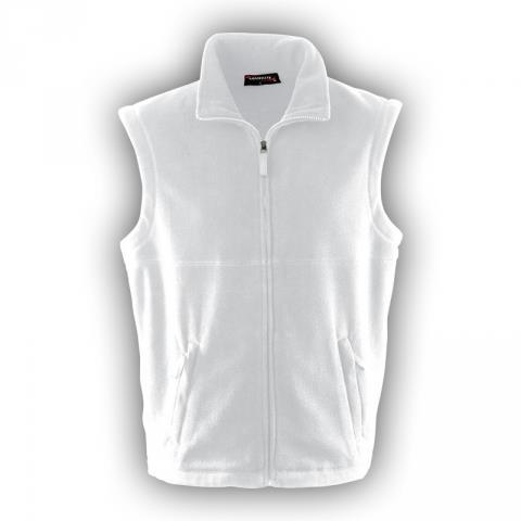 pánská vesta fleece bílá