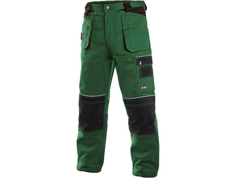 montérkové kalhoty pasové zeleno/černé Teodor - Canis