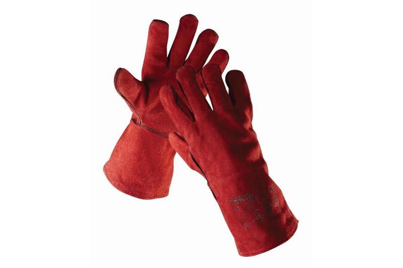 SANDPIPER RED celokožené svářečské rukavice