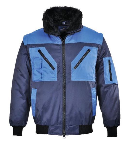 víceúčelová pracovní bunda PJ20 modrá, odepínací rukávy