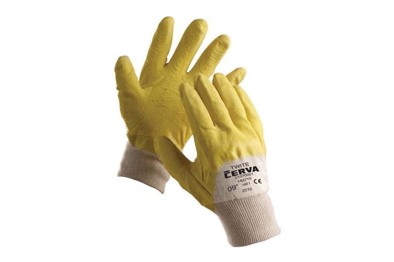 TWITE pracovní rukavice polomáčené