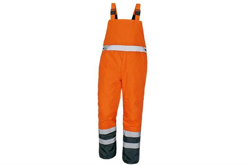výstražné pracovní zateplené kalhoty Padstow oranžové