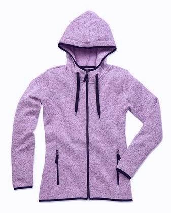 ST5950 dámská mikina fleece, světle purpurový melír