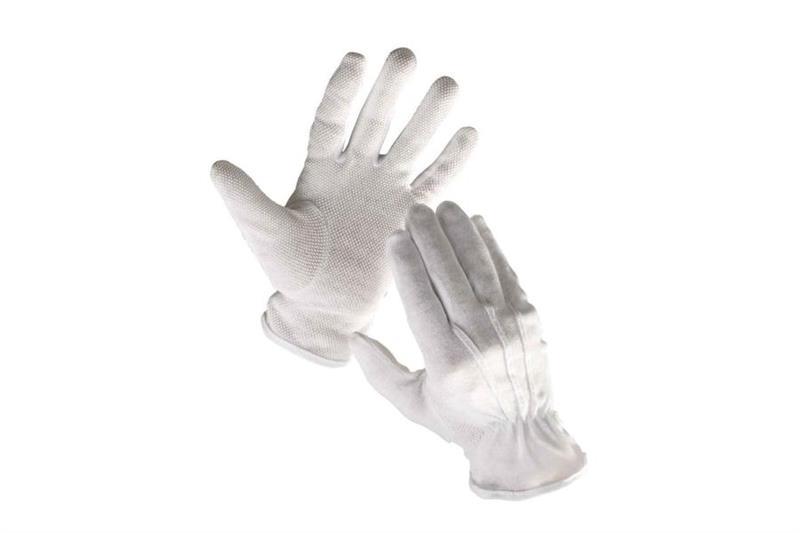 BUSTARD pracovní rukavice bavlněné s PVC terčíky