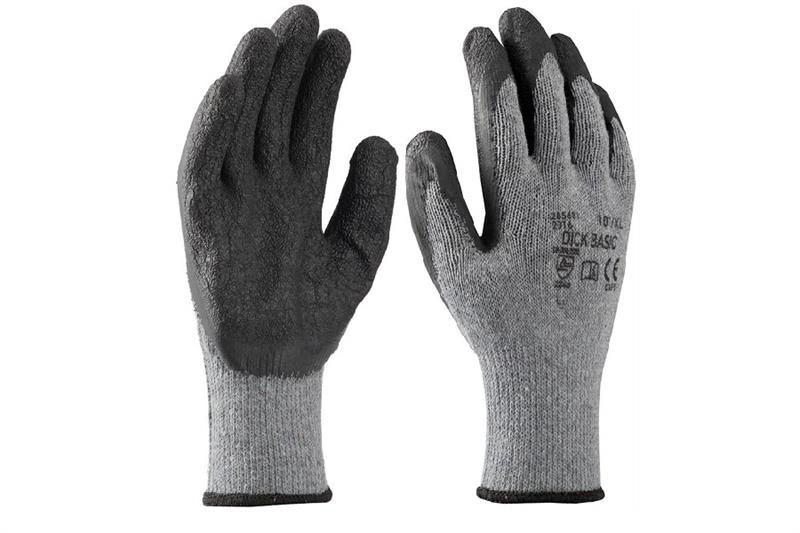 DICK BASIC pracovní rukavice polomáčené v latexu