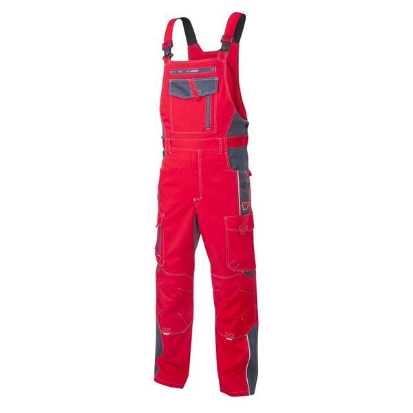 montérkové kalhoty laclové Vision červené