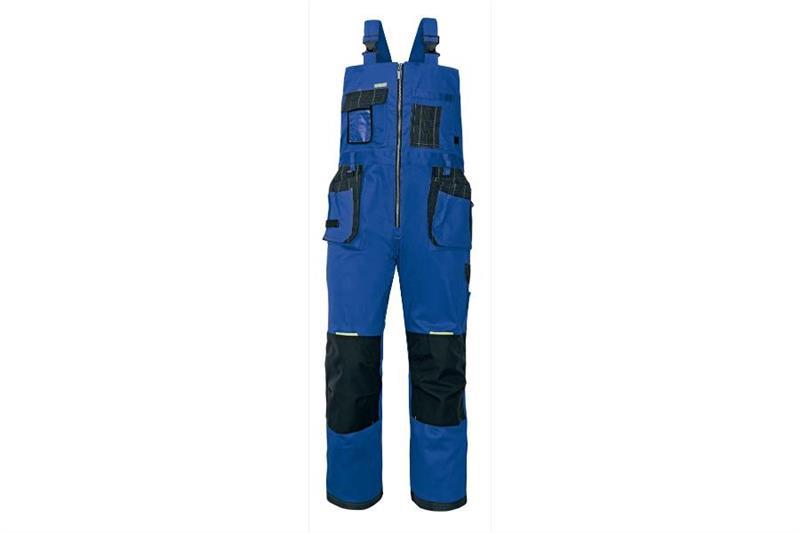 montérkové laclové kalhoty Olza modrá