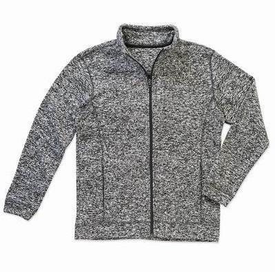 ST5850 pánská mikina fleece, tmavě šedý melír