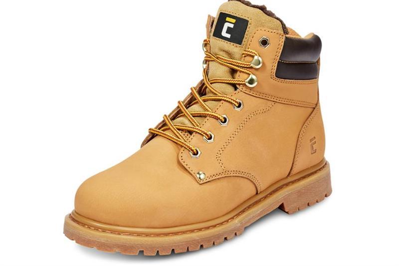 pracovní obuv-Farmářka zimní, barva písková