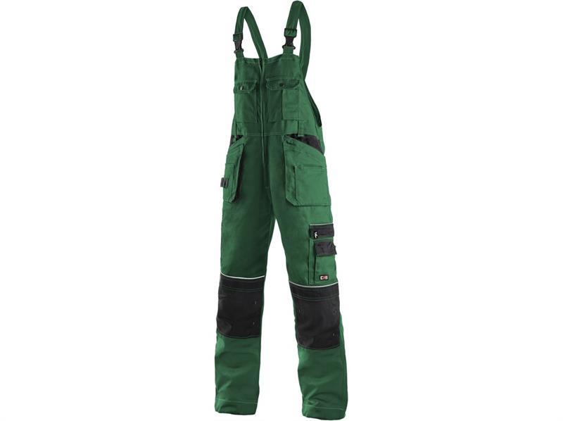 montérkové kalhoty laclové zeleno/černé Kryštof - Canis