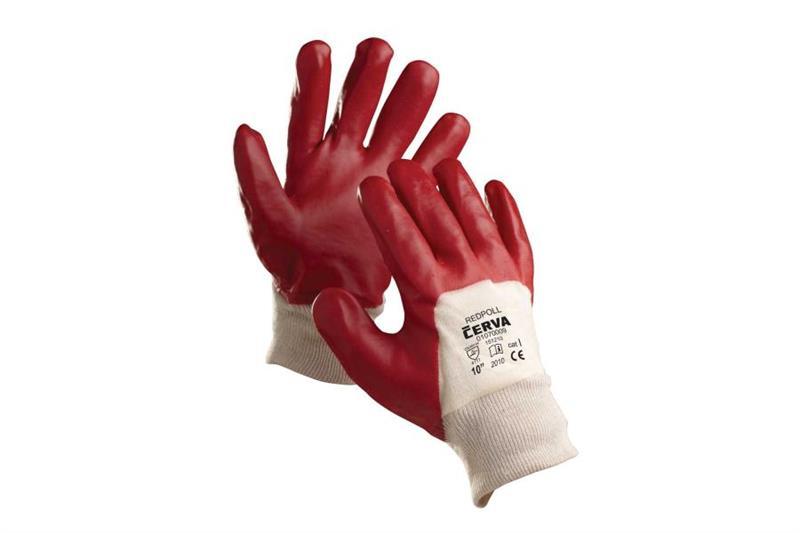REDPOL pracovní rukavice polomáčené v PVC