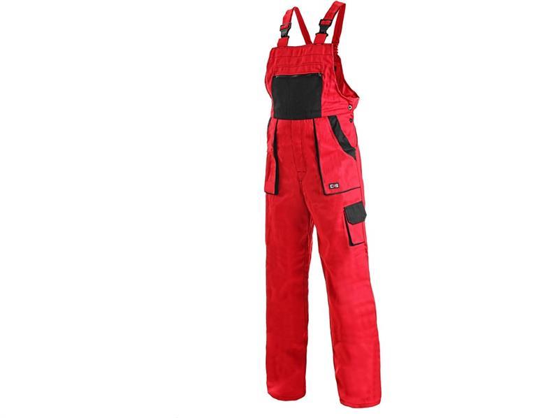montérkové kalhoty Lux laclové červeno-černé-Canis