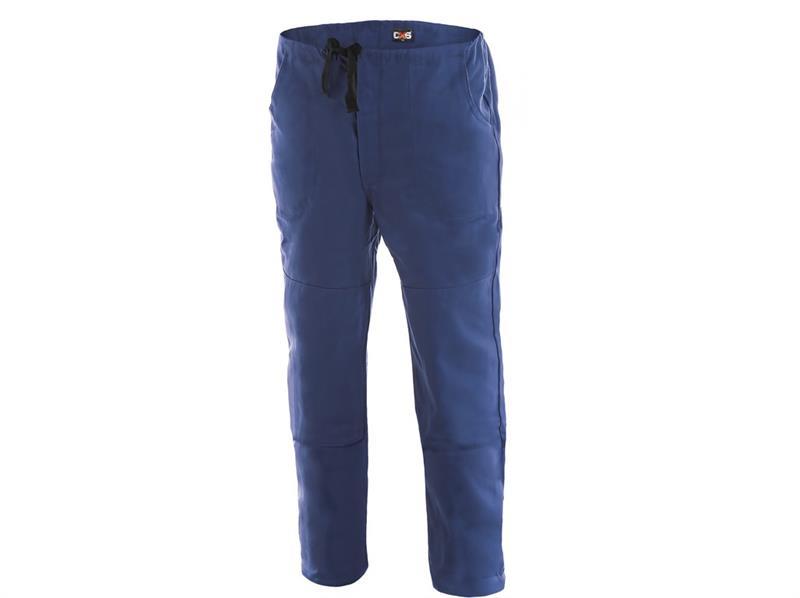 montérkové kalhoty do pasu, klasické, modré