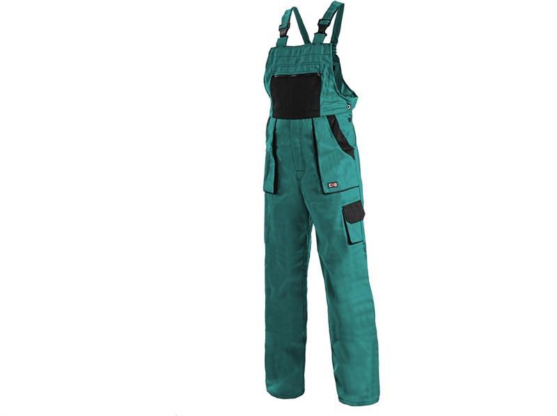 montérkové kalhoty Lux laclové zeleno-černé-Canis