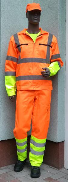 výstražný oděv podle směrnice ŘSD - blůza+pasové kalhoty