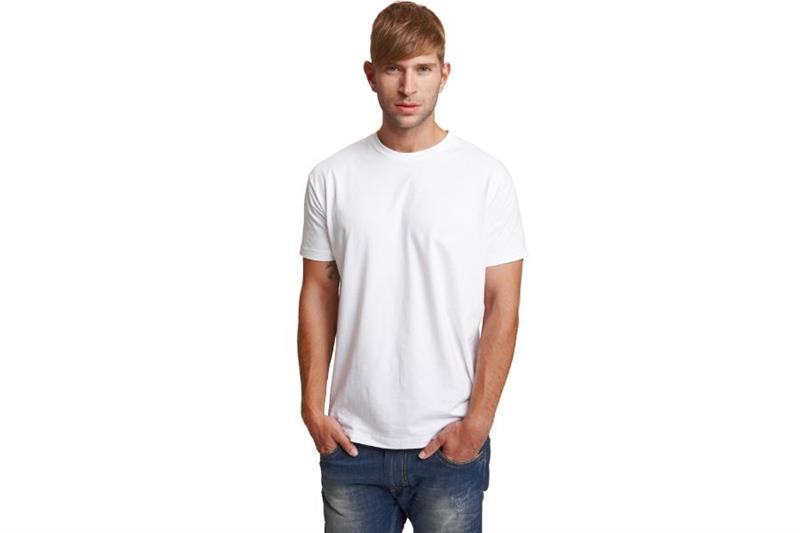 bavlněné triko krátký rukáv, GARAI bílé