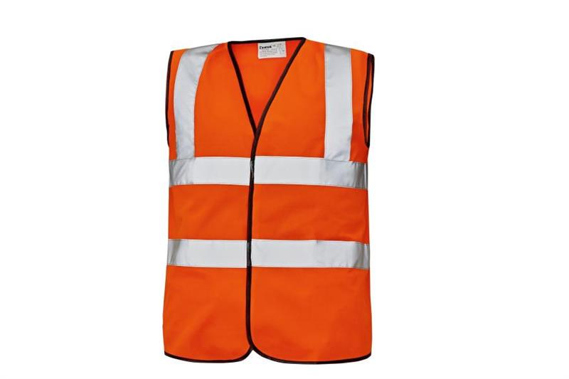 Reflexní výstražná vesta oranžová Lynx Plus