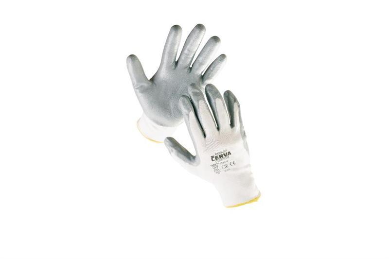 BABBLER pracovní rukavice nylon, povrstvený nitrilem
