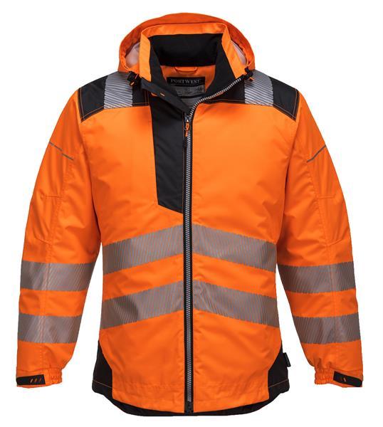 oranžová reflexní výstražná zimní bunda T400
