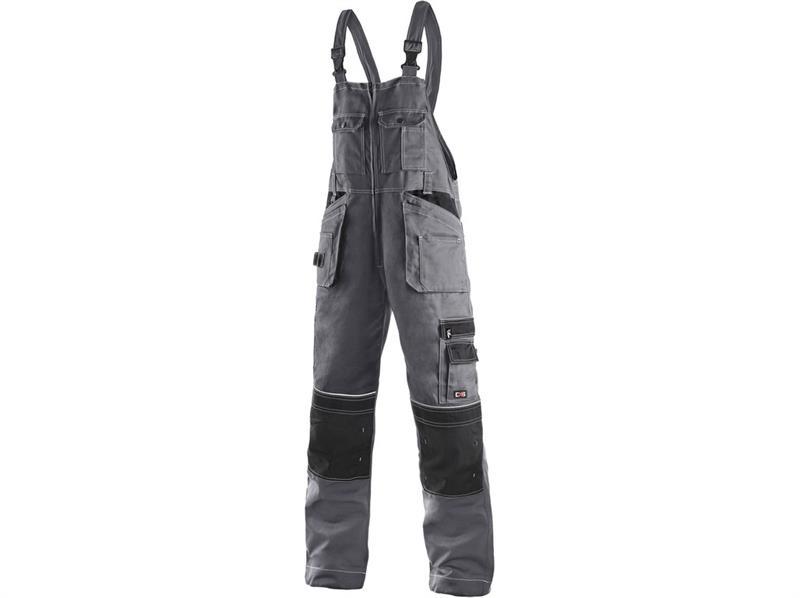 montérkové kalhoty laclové šedo/černé Kryštof - Canis