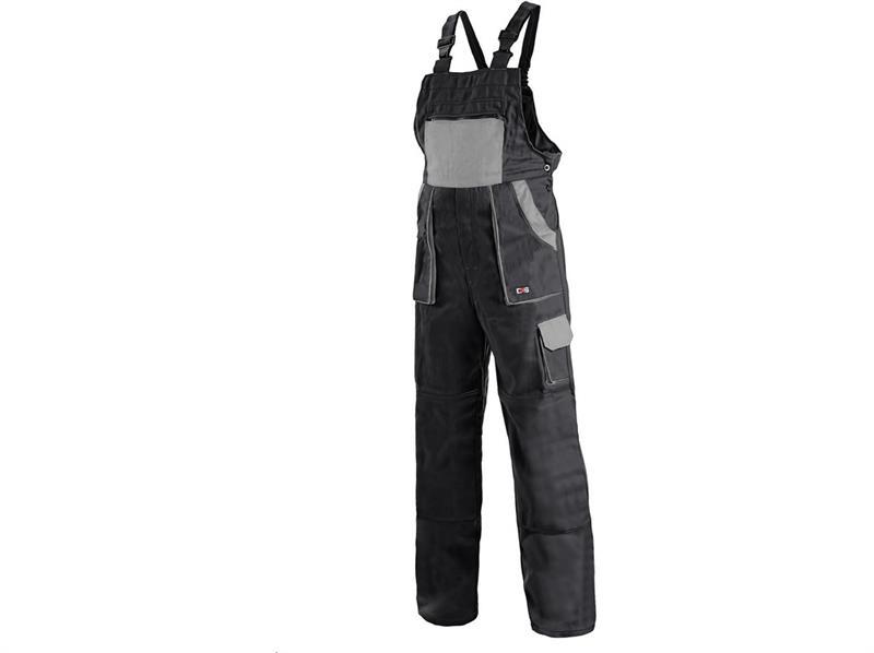 montérkové kalhoty Lux laclové černo-šedé-Canis