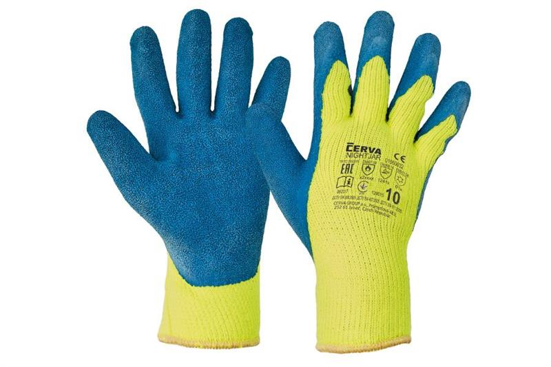 NIGHTJAR zimní pracovní rukavice polomáčené v latexu