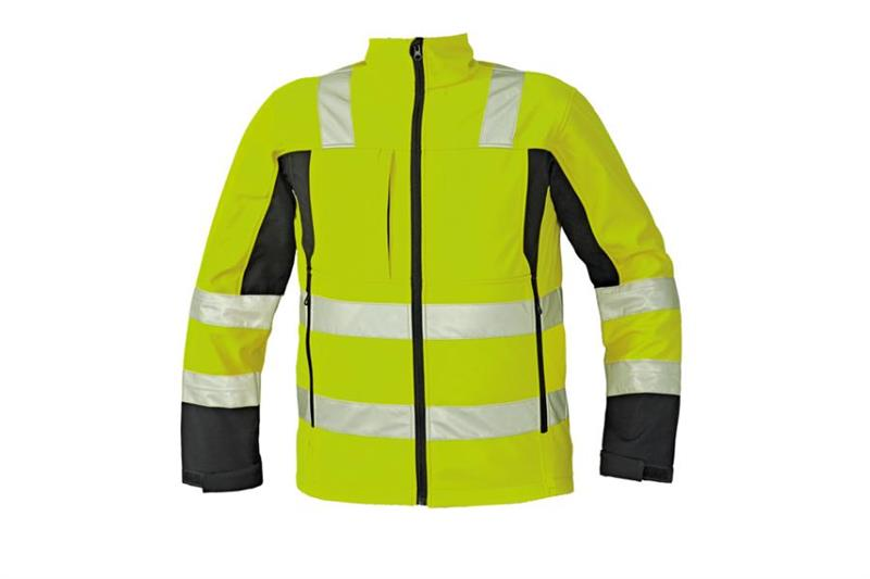 softshellová výstražná bunda Malton žlutá