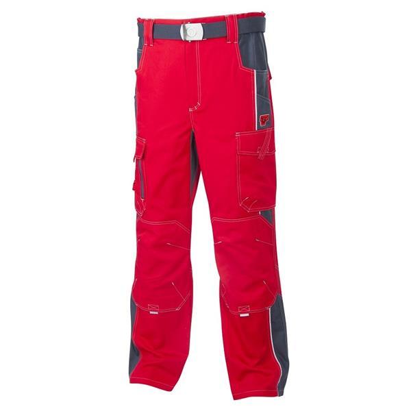 montérkové kalhoty do pasu Vision červené