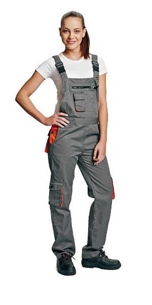 pracovní oděvy-dámské montérkové kalhoty s laclem vzor Desman