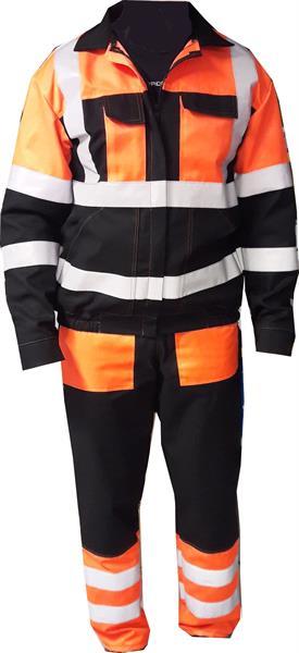 Výstražný oděv blůza a pasové kalhoty s reflexními pruhy