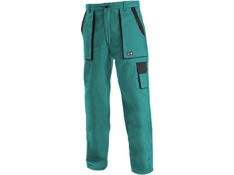montérkové kalhoty Lux pasové zeleno-černé-Canis